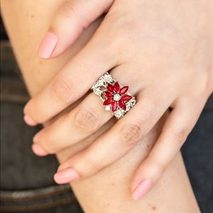 Brilliantly Blooming red ring